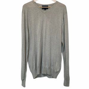 Faconnable Grey V Neck Sweater